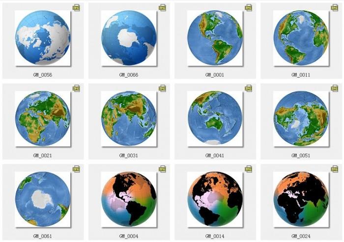 圆形椭圆形长方形世界地图高清背景ps素材打包下载