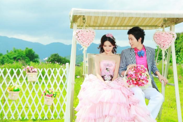 最新影楼婚纱相册样片 粉色恋人 系列打包下载分享
